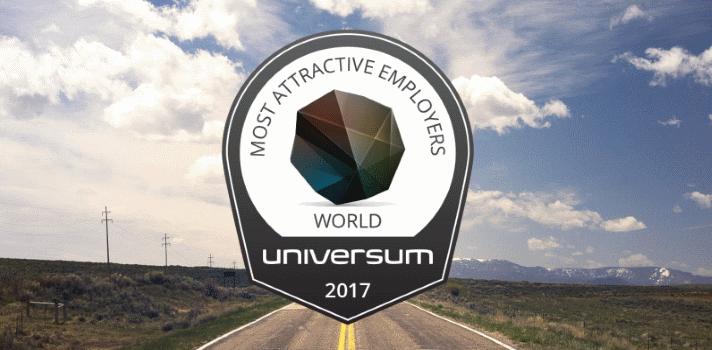 Ranking mundial de empresas más atractivas para trabajar en 2017.
