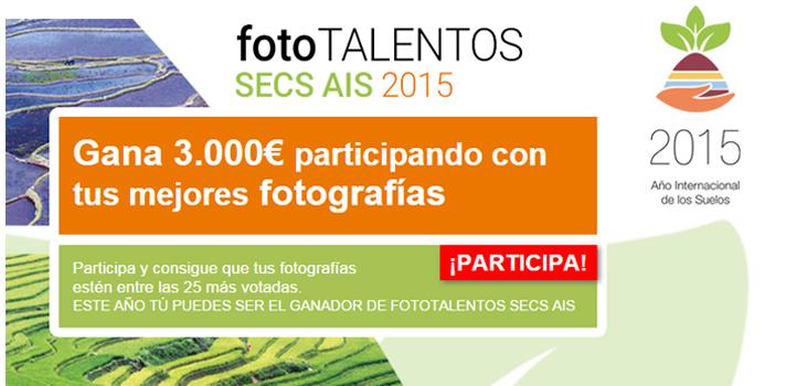 <p>La Sociedad Española de la Ciencia del Suelo (SECS) y Universia convocan <a title=Concurso de fotograía con motivo de la celebración del Año Internacional de los Suelos por declaración de la ONU - FAO href=https://fototalentos.universia.es/ES/concurso target=_blank>Fototalentos SECS AIS</a>, un<strong> concurso de fotografía</strong> con motivo de la celebración del Año Internacional de los Suelos por declaración de la ONU – FAO.Ya se pueden presentar las fotografías bajo cualquier temática que tenga como referencia directao indirecta el suelo sobre el que crecen las plantas.</p><blockquote style=text-align: center;>La SECS pone marcha esta iniciativa con objeto de conmemorar este año de referencia para la Ciencia del Suelo</blockquote><p><strong>¿Quién puede participar?</strong></p><p>Está<strong> dirigido tanto a los miembros de la comunidad universitaria</strong> (estudiantes, personal docente o investigador, y personal de administración y servicios), como <strong>científicos del suelo de las sociedades que integran la Sociedad Latinoamericana de la Ciencia del Suelo</strong> y todas aquellas personas interesadas por la temática del concurso, mayores de edad, con independencia de su nacionalidad, que residan en cualquier parte del mundo.</p><p><strong>Requisitos</strong></p><p>Para participar sólo tienes que <strong><a id=REGISTRO_USUARIOS class=enlaces_med_registro_universia title=Regístrate en Universia y sube tus fotografías href=https://usuarios.universia.net/home.action target=_blank> estar registrado en Universia</a></strong>y subir un máximo de 5 fotografías.Las 25 fotografías más votadas por el público internauta llegarás a ser finalista del concurso. El Jurado del premio será quien decida finalmente la fotografía ganadora y los dos accésit de Fototalentos SECS AIS.</p><p>Se tendrá en consideración que las imágenes contribuyan a difundir los objetivos de la ONU al aprobar el <a title=Año Internacional de los Suelos href=https://www.fao.org/soils-2015/a