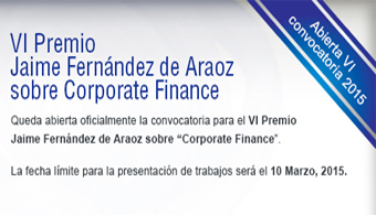 VI edición del Premio Jaime Fernández de Araoz de Corporate Finance.