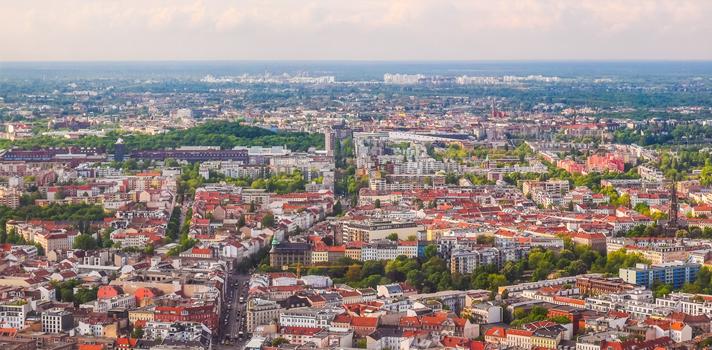 Imagen aérea de la ciudad de Berlín, Alemania.