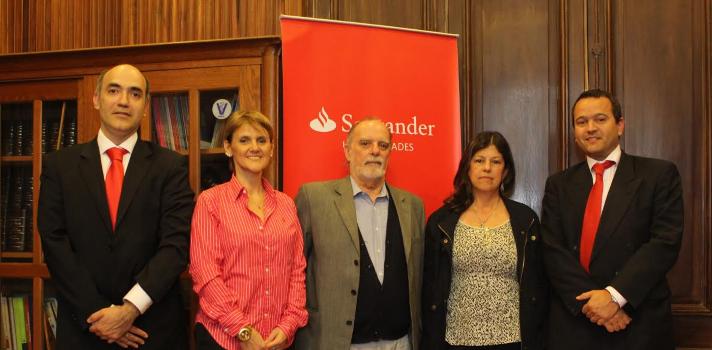 De izq. a der.: Sergio García, María de la Paz Goldaracena, Daniel Cavestany, Alicia Torrens y Fernando Rodríguez Villamil