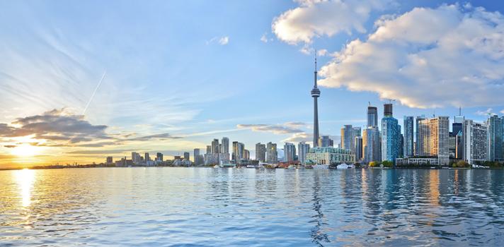 Panorámica de Toronto, Canadá.