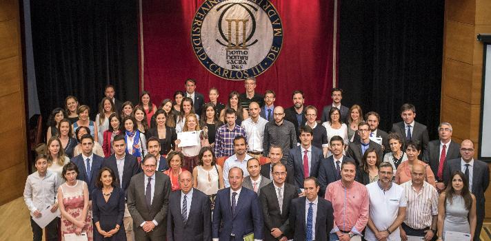 La Universidad Carlos III de Madrid y Banco Santander entregan los Premios de Excelencia y Emprendimiento 2017 del Consejo Social.