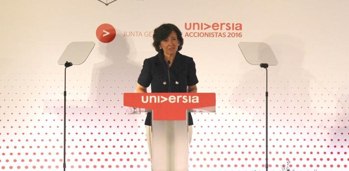Ana Botín reflexiona sobre la educación en España.