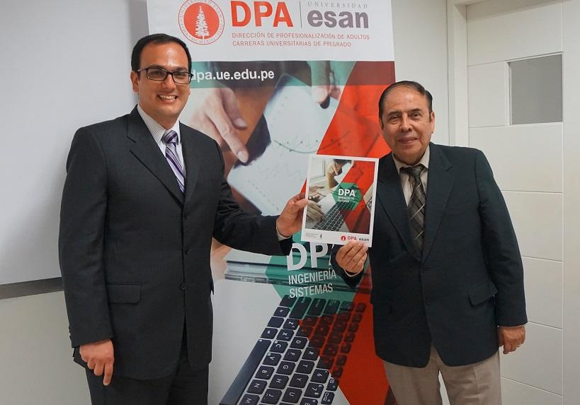 Eduardo Mantilla, director del DPA y Javier del Carpio, Decano de la Facultad de Ingeniería de la Universidad ESAN.