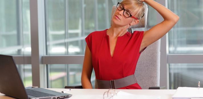 Algunos de estos ejercicios se pueden realizar en el mismo puesto de trabajo