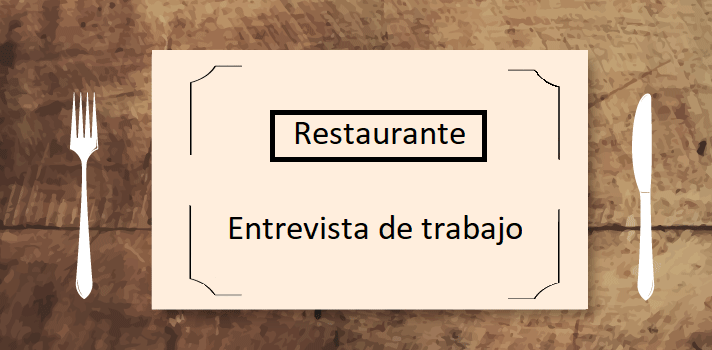¿Cómo comportarse si la entrevista de trabajo se celebra en un restaurante?