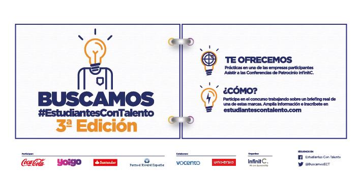 La III edición del programa #EstudiantesConTalento ofrece prácticas profesionales en destacadas empresas
