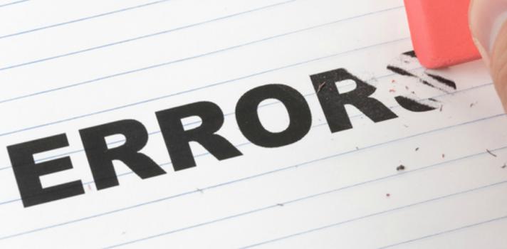 Aprenda a assumir os erros para poder corrigi-los
