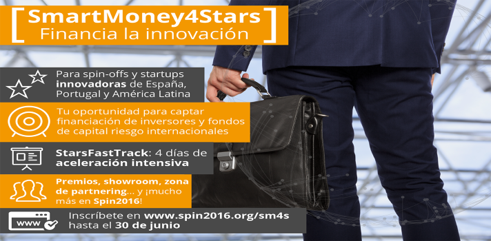 SmartMoney4Stars y Spin2016 financian la innovación