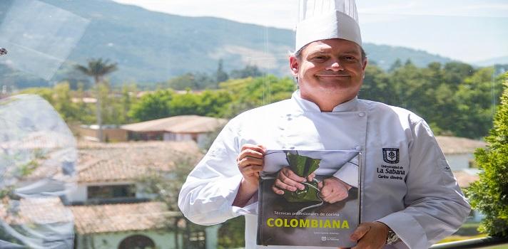 El libro Técnicas profesionales de cocina Colombiana, fue editado por la Universidad de La Sabana.