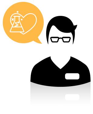 Preparo fórmulas magistrales, administro los medicamentos con receta y aconsejo a los pacientes.
