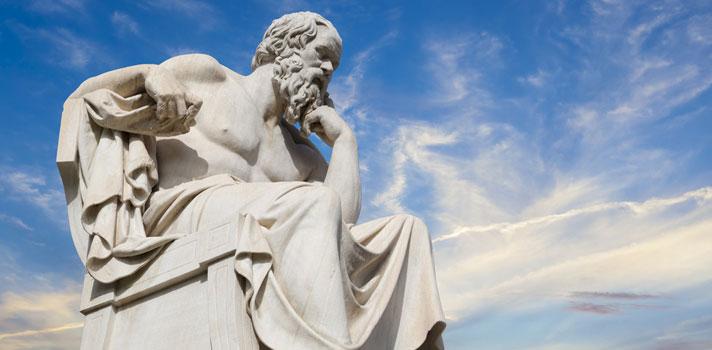 Estatua del filósofo de la Antigua Grecia, Sócrates. Localizada en la Academia de Atenas.