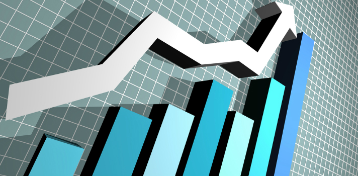 Gráfico que muestra beneficios y ganacias