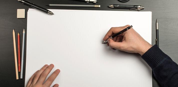 Ilustrador a punto de comenzar a dibujar