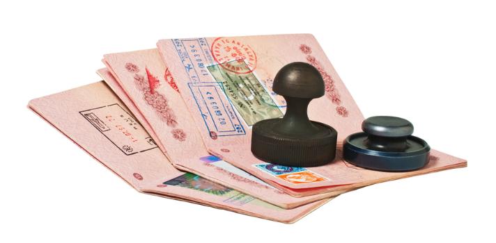 Pasaportes y sellos