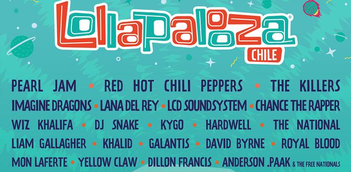 """<div style=text-align: left;><span><span>s de 100 bandas dan vida a la alineación de la octava edición del evento de música internacional más grande del país. Importantes regresos y debuts se incluyen en la lista de invitados para esta fiesta de ritmos globales de tres días. El encuentro se realizará el próximo <strong>16, 17 y 18 de marzo.</strong><br/></span></span><div><span><span><br/><strong>Pearl Jam</strong>, una de las bandas más legendarias e influyentes de los últimos 30 años, regresa a Parque O'Higgins luego de protagonizar el 2013 una de las presentaciones más apabullantes que han pasado por la edición nacional del festival. Los californianos Red Hot Chili Peppers vuelven con su onceavo álbum de estudio bajo el brazo, """"The Getaway"""", que les ha valido sus mejores críticas en más de una década. Otro número mayor son los multi-premiados The Killers, una de las bandas más representativas del rock actual y que también es parte grande de la historia de Lolla Chile, habiendo sido el plato principal de la primera edición.<br/></span></span><div><span><br/><strong>Imagine Dragons</strong>, objeto de adoración en todo el planeta gracias a su fórmula de rock alternativo plagado de himnos y tonos pop de oscura intencionalidad, regresan a Lollapalooza Chile como un fenómeno consagrado.<strong> Lana del Rey</strong>, icónica artista americana que ha enamorado con sus álbumes y se ha consolidado como una artista referente en el panorama musical tanto por su peculiar carisma como por tu único y propio estilo musical.</span><br/><span></span><br/><span>Los reformados <strong>LCD Soundsystem</strong> celebran con su nuevo álbum """"American Dream"""" su estatus de una de las mejores bandas de comienzos del nuevo milenio, capaces de crear música electrónica bailable con la actitud del punk y bases rítmicas del house. Con 3 premios Grammy en sus manos - por """"Coloring Book"""" - Chance the Rapper ya es una estrella mundial, catapultándose como el líder de la nueva ola del Hip Hop, ad"""