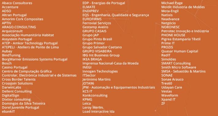 Empresas presentes Semana da Engenharia da UMinho