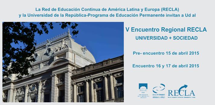 UdelaR convoca al V Encuentro Regional RECLA en Uruguay: