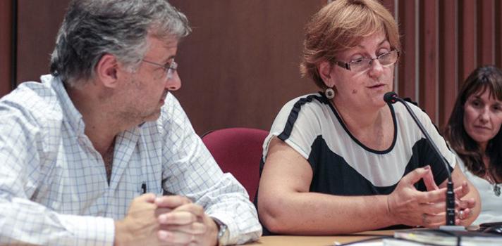 Mag. Javier Lasida y Prof. Gabriela Garibaldi