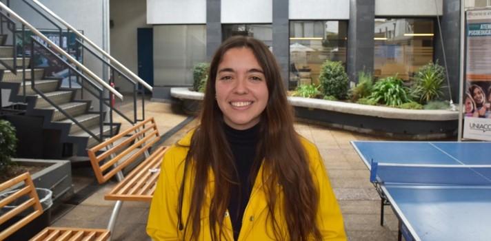 Valeria Delgado, alumna de la UNIACC
