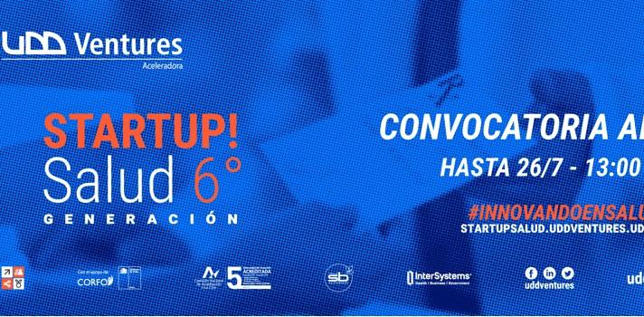 Ya está abierta la sexta convocatoria del Startup Salud UDD Ventures