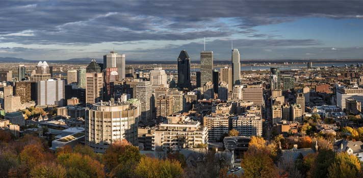 Canadá: panorámica de Montreal desde Mont-Royal.