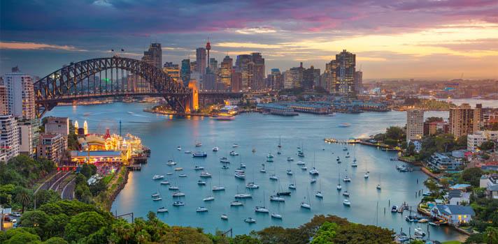Puente de la bahía en Sídney, Australia.