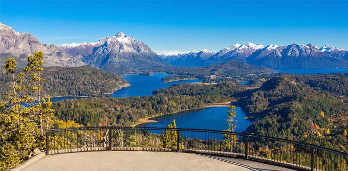 Cerro Campanario, cerca a Bariloche en el Parque Nacional Nahuel Huapi.